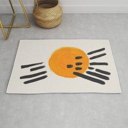 Mango Sun Mid Century Modern Minimalist Funk Cool Shapes  Rug