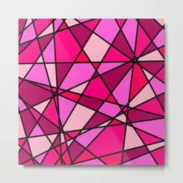 Shattered Pink Metal Print