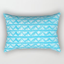 Simple Geometric Zig Zag Pattern- White on Teal -Mix & Match with Simplicity of life Rectangular Pillow