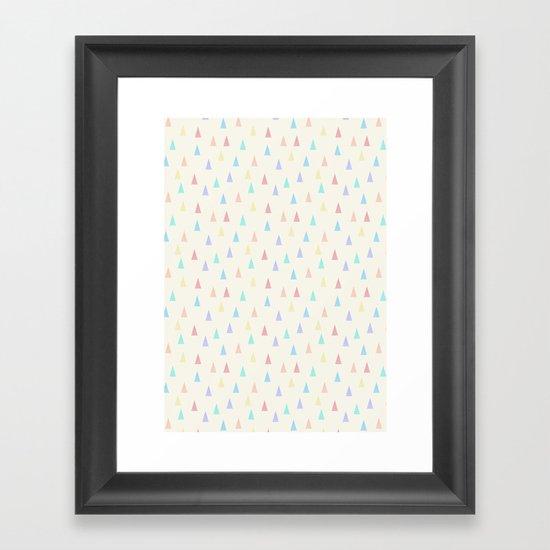 tri▴ngles Framed Art Print