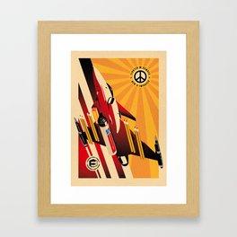 Peace fighter Framed Art Print