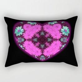 Mandala Flower Love Heart Rectangular Pillow