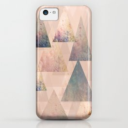 Pastel Abstract Textured Triangle Design iPhone Case