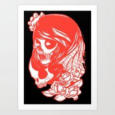 Skull Girl II Art Print