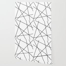 Lines in Chaos II - White Wallpaper
