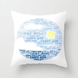 Carpe Diem (Sun) Throw Pillow