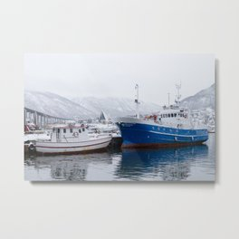 Boats in Tromso Metal Print