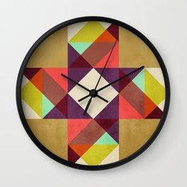 Quilt Block #02 Wall Clock