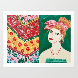 Bandana Girl Art Print