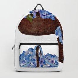 Two Baskets of Hydrangea Love Backpack