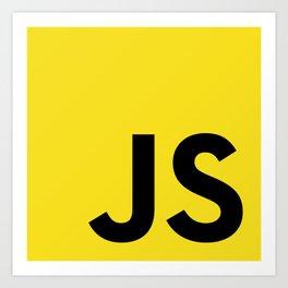 Javascript (JS) Art Print