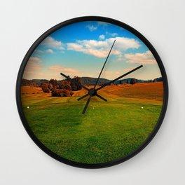 Summer season at the golf club | landscape photography Wall Clock