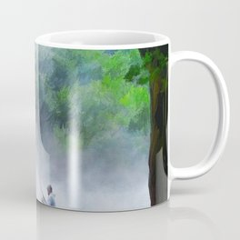 The Father and Son Fishers (Color) Coffee Mug