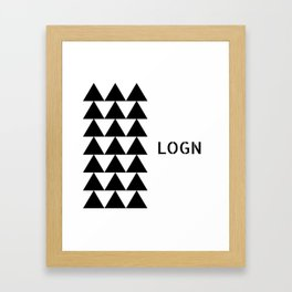 Logn/Calm Framed Art Print