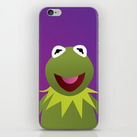 muppets iPhone & iPod Skins featuring Kermit - Muppets Collection by Bryan Vogel
