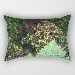 Painted Nettles and Ferns Rectangular Pillow