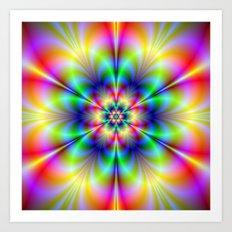Floral Psychedelia Art Print