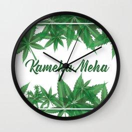 KamehaMeha Weed Marijuana Wall Clock