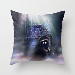 Raccoon Spirit Throw Pillow