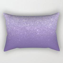 Modern ultra violet faux glitter ombre purple color block Rectangular Pillow