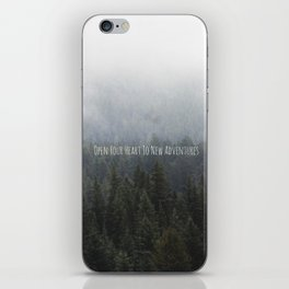 OPEN YOUR HEART TO NEW ADVENTURES iPhone Skin