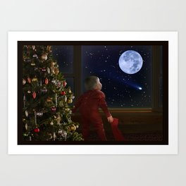 Waiting Santa II Art Print