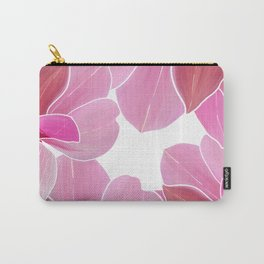 Modern hand painted pink lilac burgundy watercolor orchid Carry-All Pouch