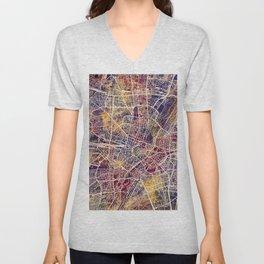 Munich Germany City Map Unisex V-Neck