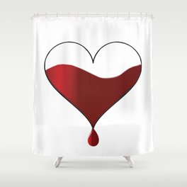 My heart knocking for you. Shower Curtain