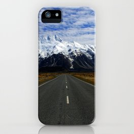 Road to Mount Cook iPhone Case