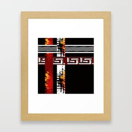 Abstraction .Weave . Patchwork . Framed Art Print