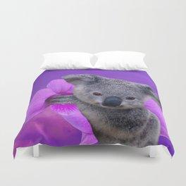Koala and Orchid Duvet Cover