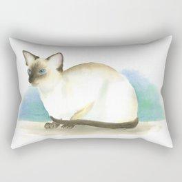 Chocolate point siamese cat 3 Rectangular Pillow