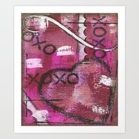 xoxo Art Prints featuring XOXO by Kimberly McGuiness