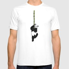 Save the Panda MEDIUM Mens Fitted Tee White