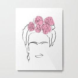 Frida Kahlo portrait Metal Print