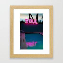 NEON POOL Framed Art Print