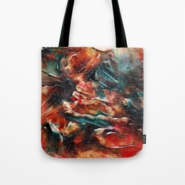 Subtle Number 1 - Bold Multicolor Mixed Media Textural Nature Inspired Mountains Rocks Tote Bag