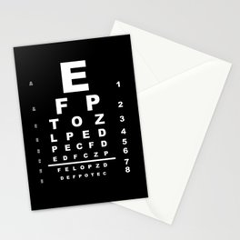 Inverted Eye Test Chart Stationery Cards