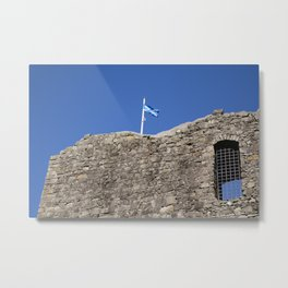 Flag Upon The Castle Metal Print
