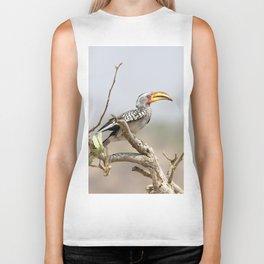 Yellow billed hornbill Biker Tank