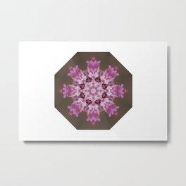 Lilac floral flake Metal Print