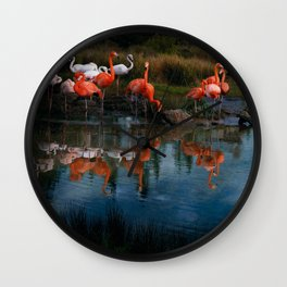 Flamingo Convention Wall Clock