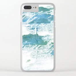Mint cream watercolor Clear iPhone Case