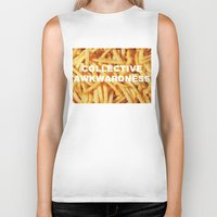 fries Biker Tanks featuring FRIES, ANYONE?  by Collective Awkwardness