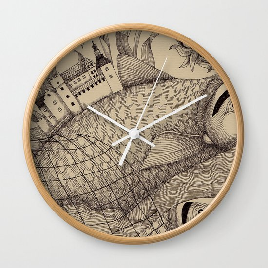 The Golden Fish (1) Wall Clock