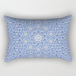 Arabesque Vines 3D - Color: Boracay Beach Rectangular Pillow
