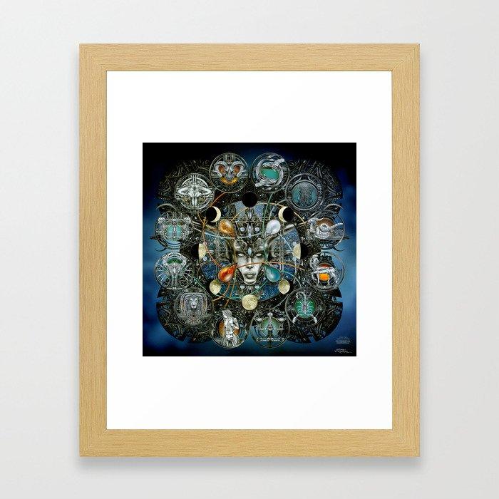 """Astrological Mechanism - Zodiac"" Framed Art Print"