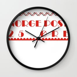 Norge Post Wall Clock