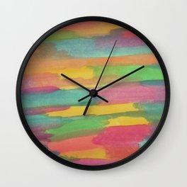 Rainbow Sorbet Abstract Art Wall Clock